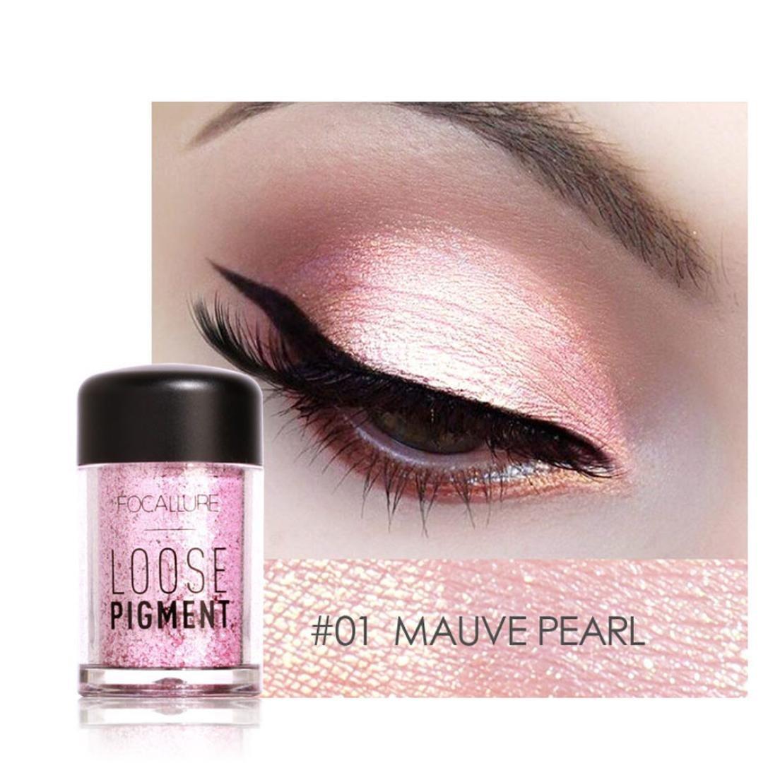 Fard À Paupières, BeautyTop 12 Couleurs Focallure Ombre à PaupièRes Maquillage Perle MéTalliséE Ombre à PaupièRes (# Q)