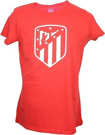 Atletico de Madrid Camiseta Mujer Azul Marino Escudo Blanco: Amazon.es: Ropa y accesorios