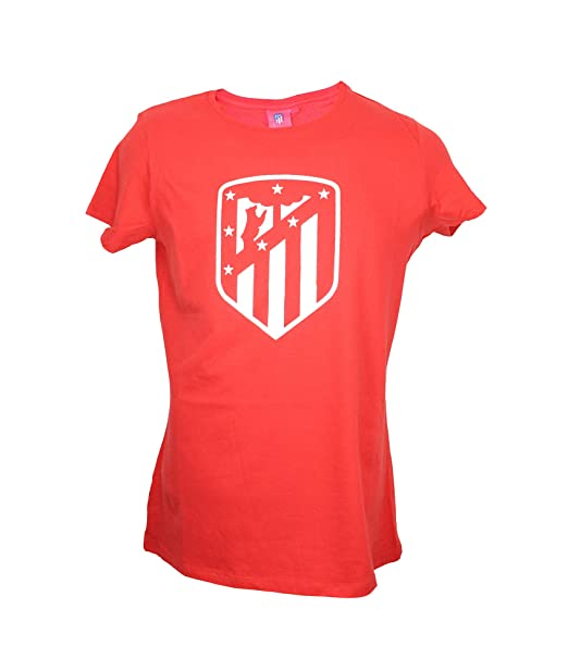 Atletico de Madrid Camiseta Mujer Azul Marino Escudo Blanco ...