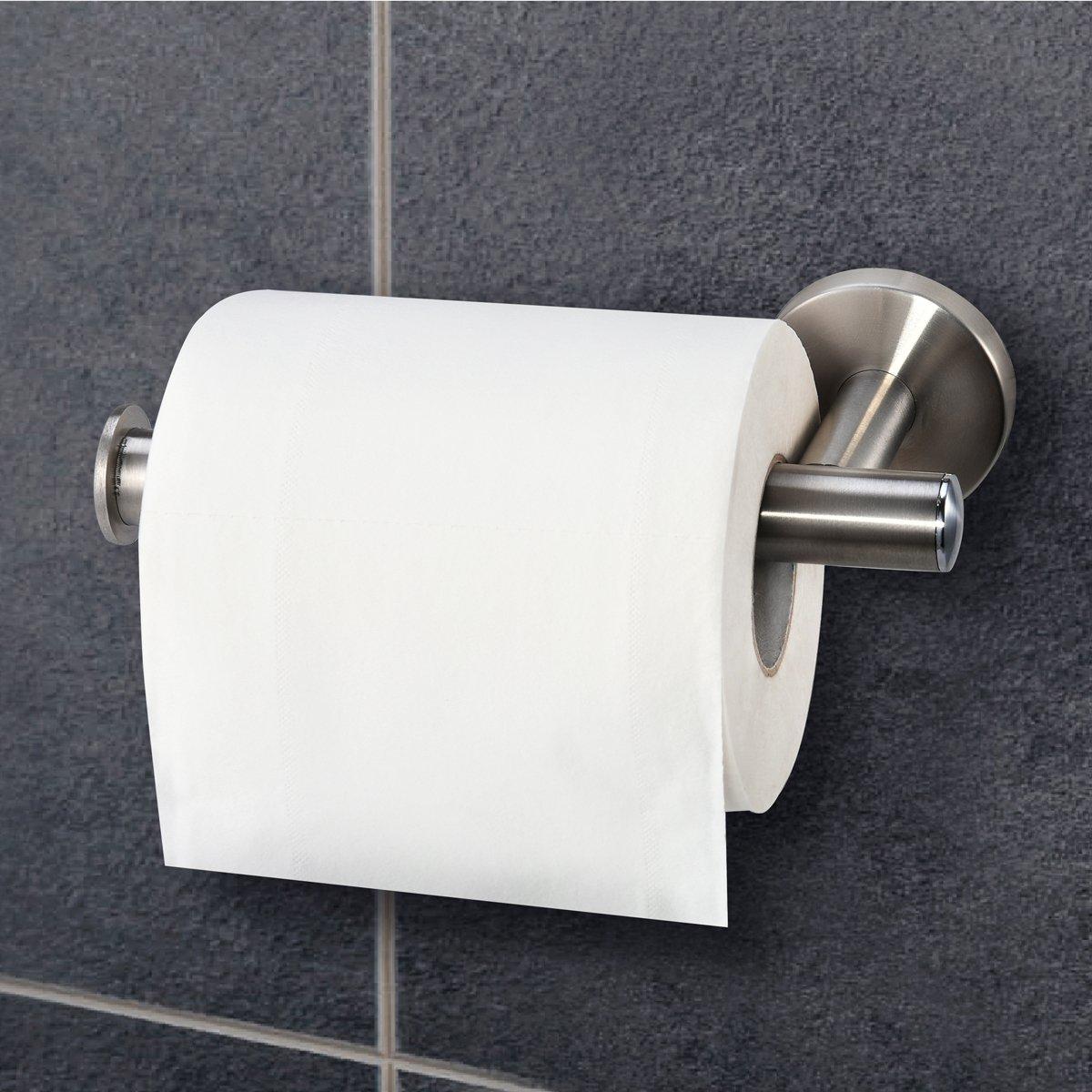 Dailyart Edelstahl Toilettenpapierhalter Klopapierrollenhalter Toilettenpapier Halterung Kleben Ohne Bohren Matte Finish Einfach zu Installieren