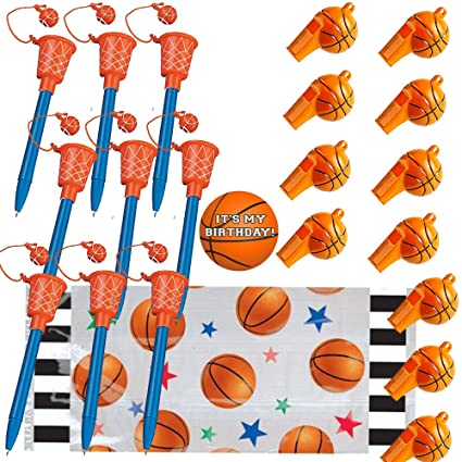amazon com basketball party favors for 12 basketball hoop pens