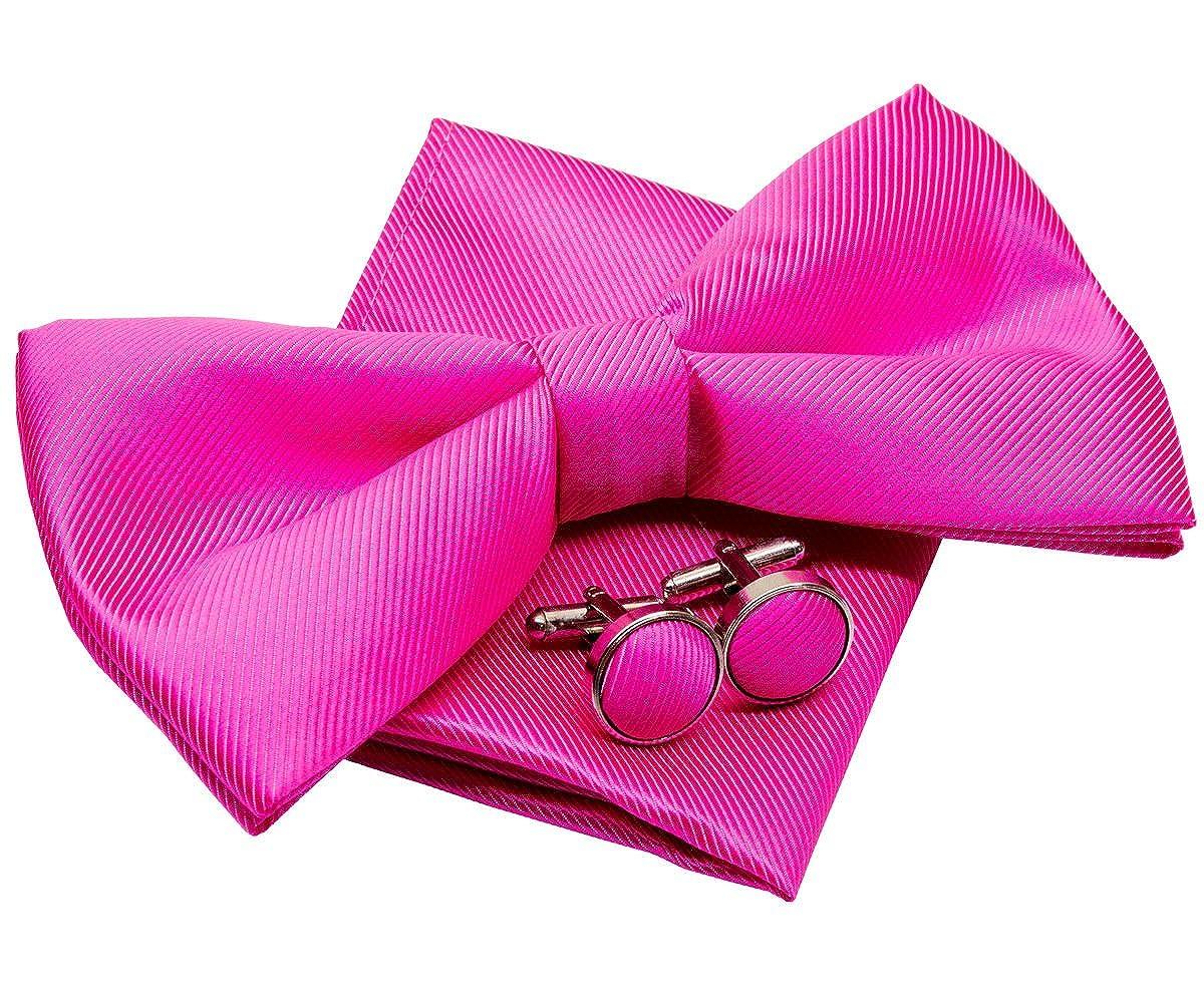 preanudada en set de regalo de lunares 12/cm Pajarita peque/ña con pa/ñuelo cuadrado de bolsillo y gemelos
