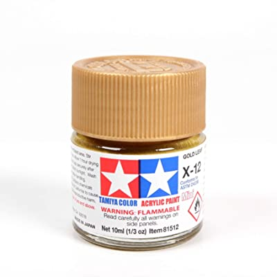 Tamiya Acrylic Mini X-12 Gold Leaf 10Ml Bottle: Toys & Games