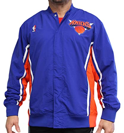 86bdc80caf3 Image Unavailable. Image not available for. Color  Mitchell   Ness NY  Knicks Authentic Warm Up Jacket