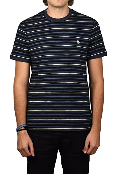 ORIGINAL PENGUIN Heathered Slub Camiseta, Azul (Dark Sapphire 413 ...