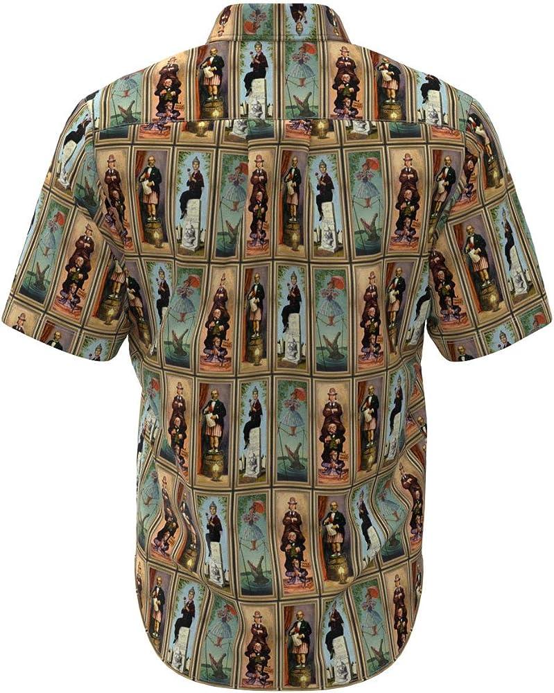 It/'s a Small World Disney Inspired Men Short Sleeve Button Shirt Size XS-3XL