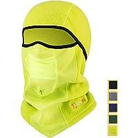 AstroAI Ski Mask Winter Balaclava Windproof Breathable Face Mask for Cold Weather (Superfine Polar Fleece, Neon Yellow)