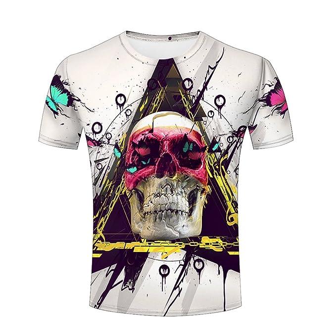 aac57d16f90f Maoda Mens 3d Tshirts Printed Snow Mountain Elk Cool Graphics Tees Shirts S