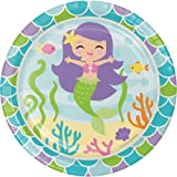 """Creative Converting Mermaid Friends Sturdy Style Paper Dessert Plates (8 Count), 7"""""""