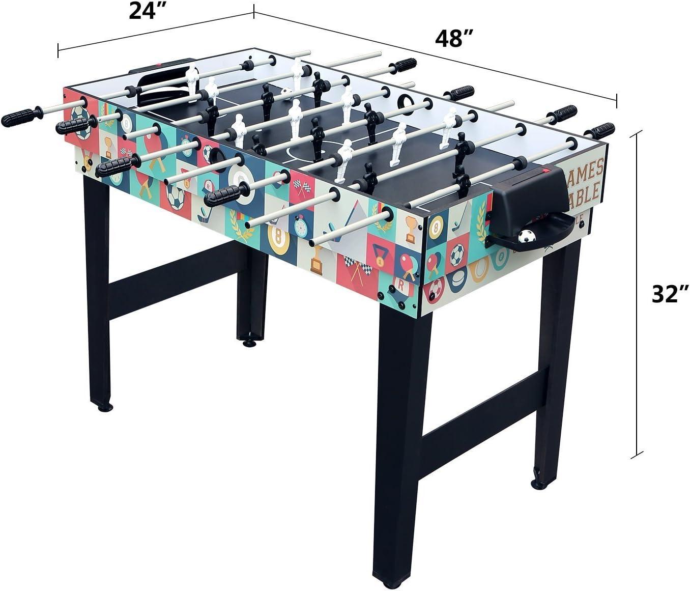 HLC Futbolín Mesa multijuegos 4 en 1, Mesa de Billar Ping Pong Air ...