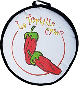 "CLEARANCE SALE! 12"" LARGE red chili peppers Tortilla Warmer. This Premium INSULATED tortilla pouch keeps corn & flour tortillas warm from the skillet, pan, grill or microwave!"