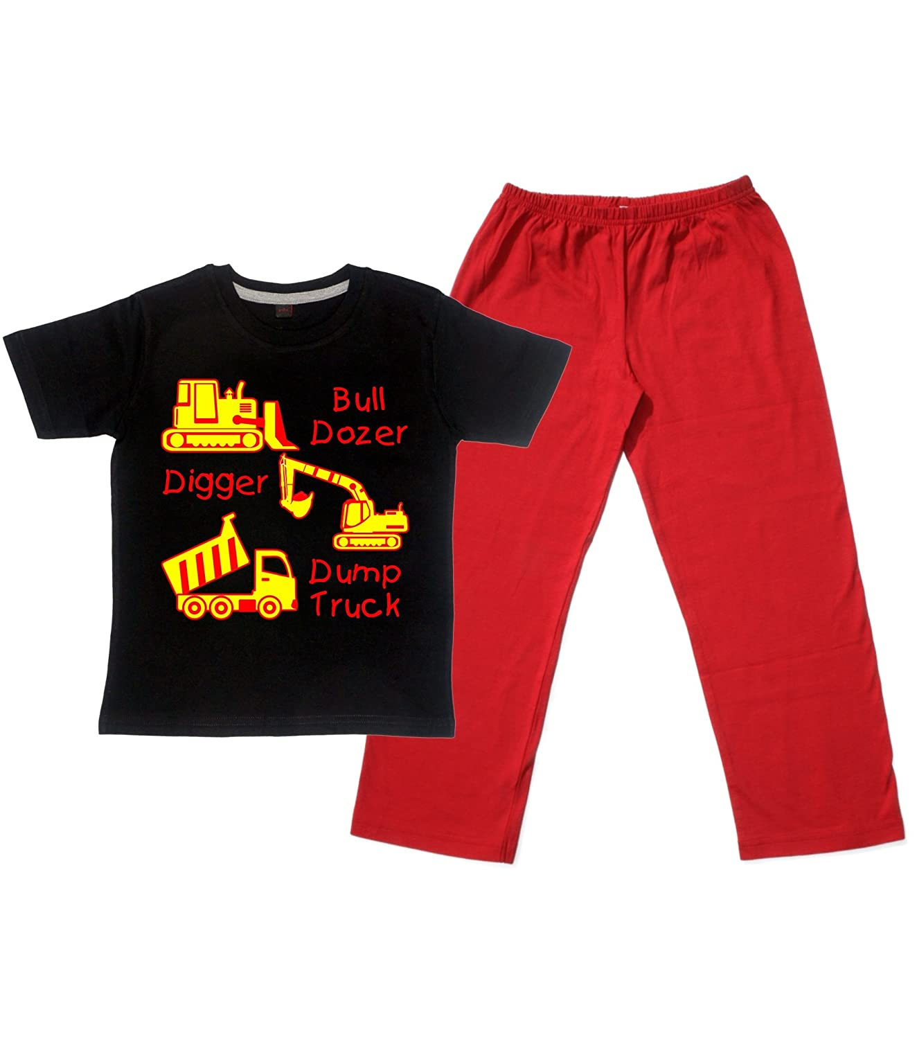 bulldozer digger u0026 dump truck u0027 children u0027s pyjama set for boys