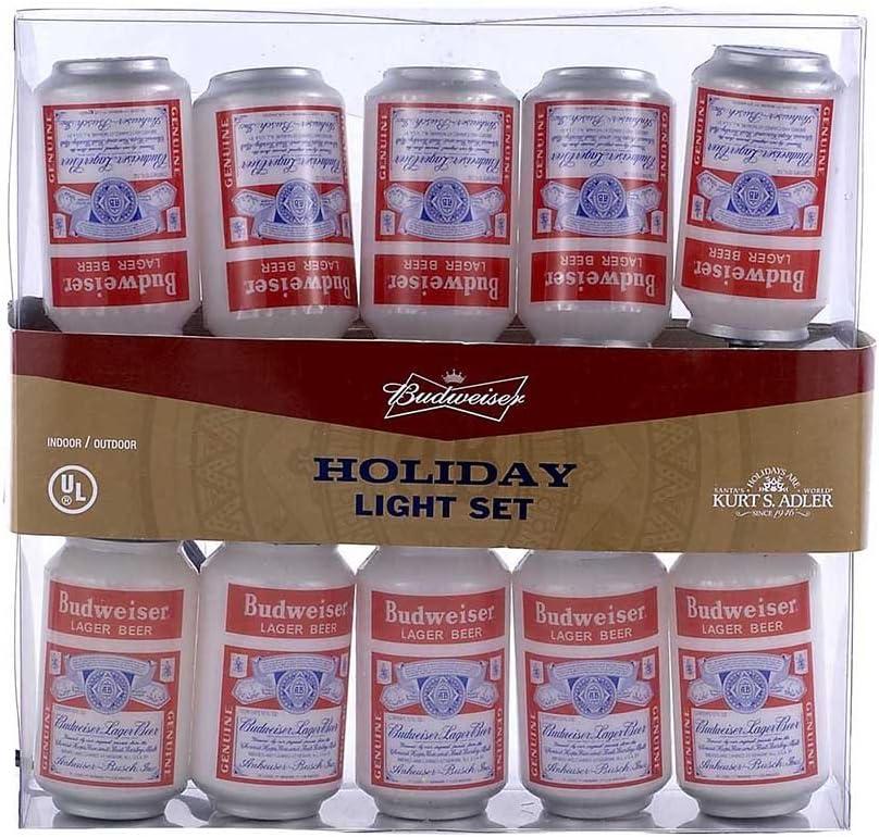 Budweiser Kurt Adler UL 10-Light Vintage Can Light Set