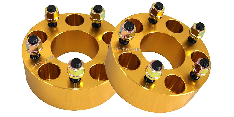 ワイドトレッドスペーサー ゴールド 2枚セット PCD100 5H M12×P1.5 厚さ50mm SPG0650 B00IY5GJ58