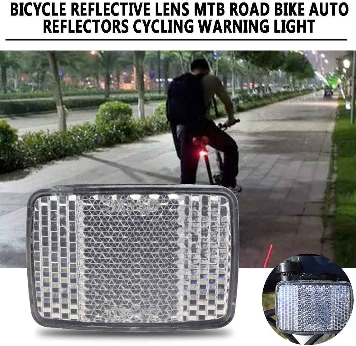 fgdjfhsdfgsdfh Bicycle Reflective Lens MTB Road Bike Automatic Reflectors Cycling Warning Light Bike Cycling Safety Accessories