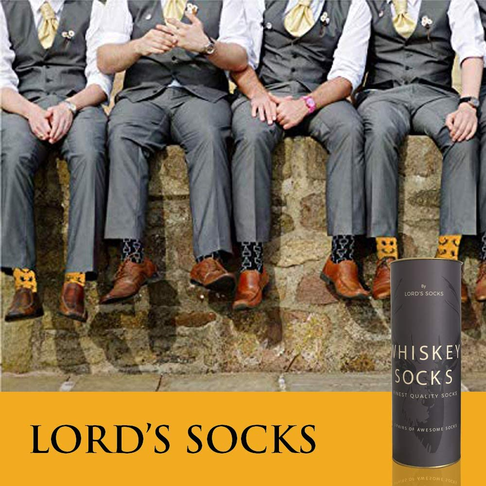Lords Rocks Whisky Socks If you can read it Bring me a Whiskey Novelty Socks,3 pairs of Funny Socks with a Gift Box like a Bottle of Whiskey for dad Men Birthday Gifts Ideas,