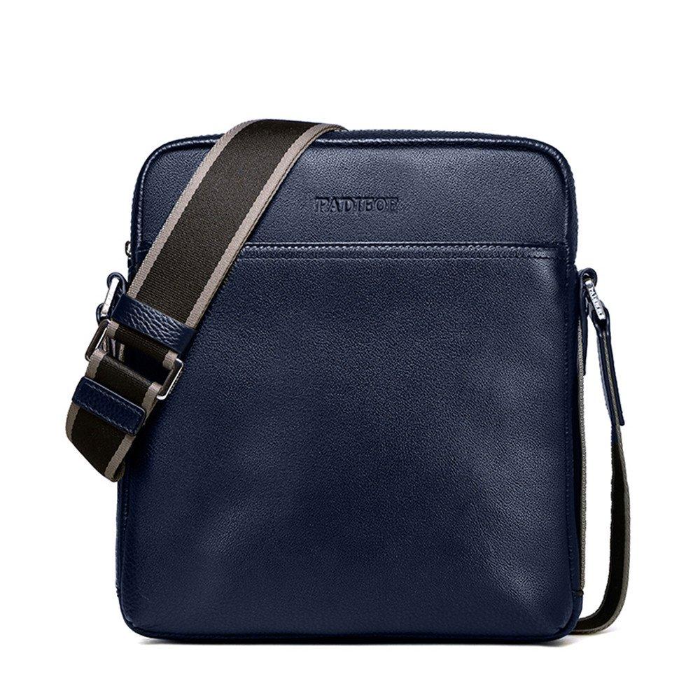 PADIEOE Mens Genuine Leather Shoulder Bag Briefcase Messenger BagNB151031-4L