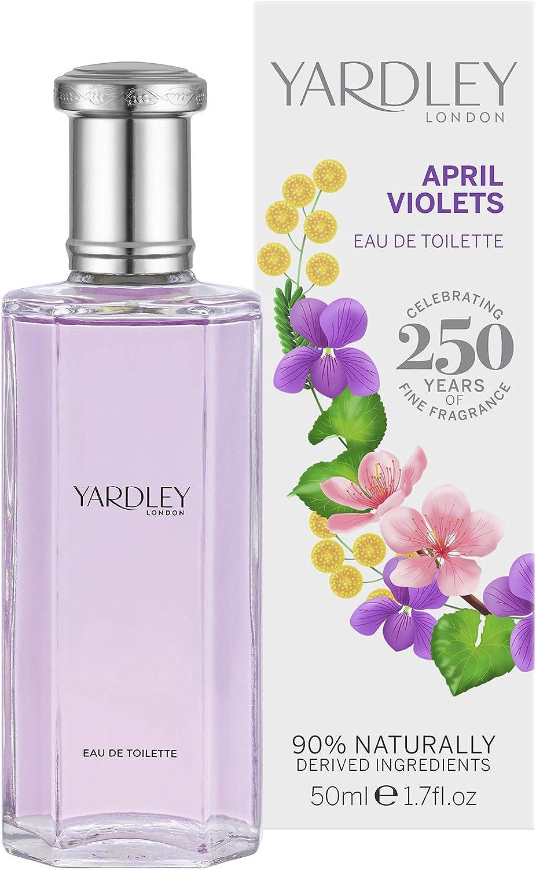 Yardley London April Violets Agua de colonia para mujer, 50 ml: Amazon.es: Belleza