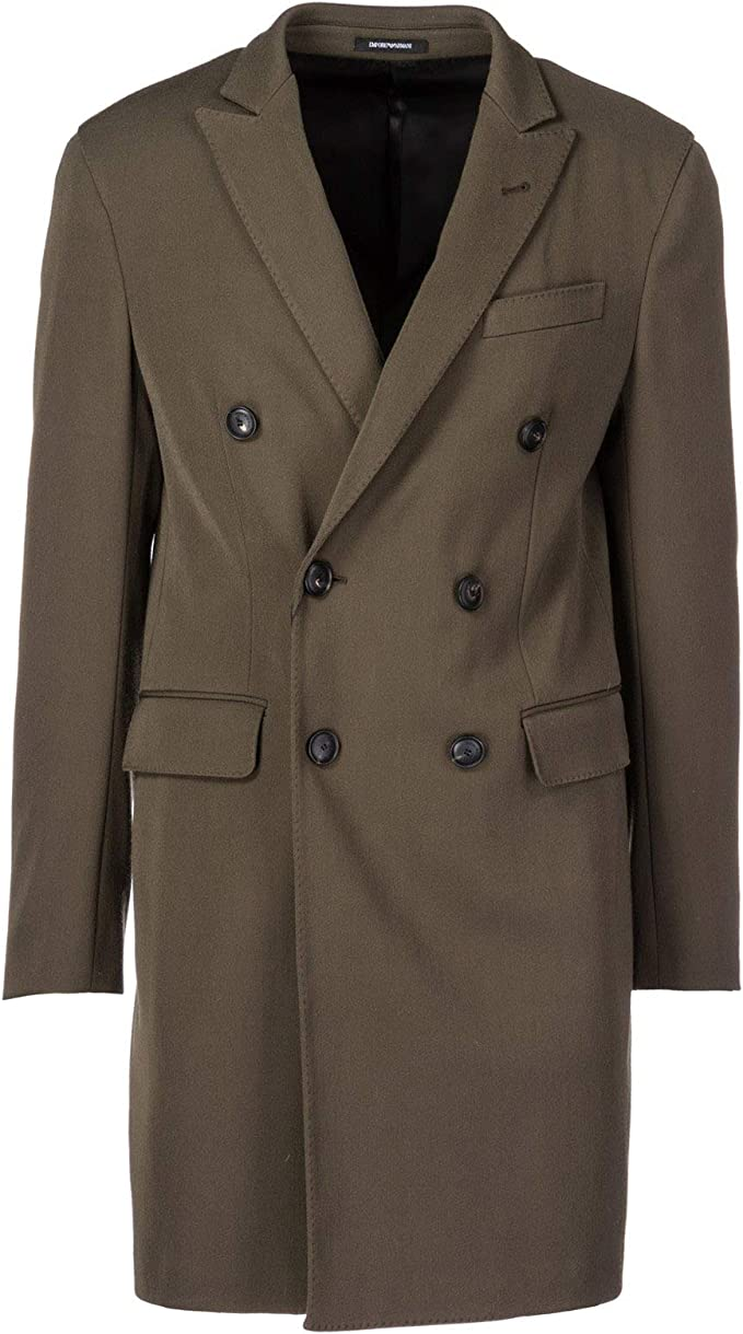 Emporio Armani Cappotto Uomo Verde 50 EU: Amazon.it