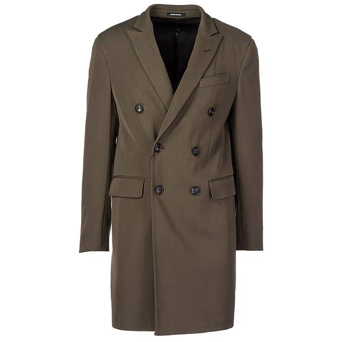 Emporio Armani Cappotto Uomo Verde 50 EU  Amazon.it  Abbigliamento dcc81afa25d