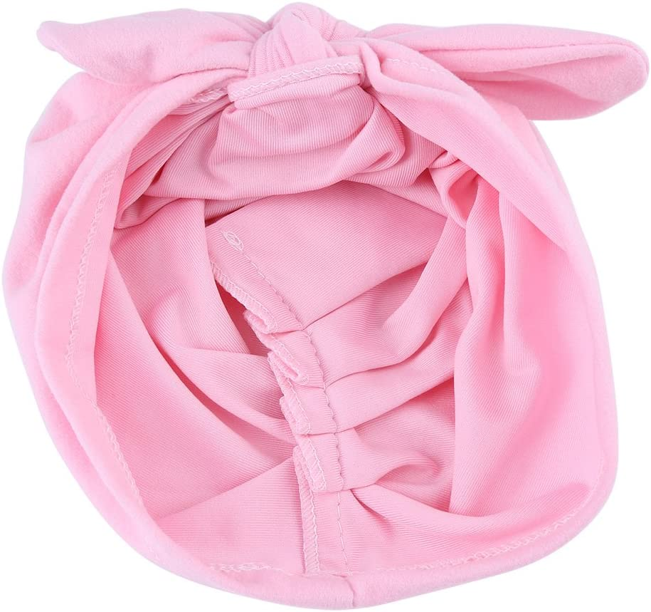 Black Baby Hat Soft Cute Cotton Headbands Toddler Turban Knot Headwrap Good Stretchy Big Bow Butterfly Cap