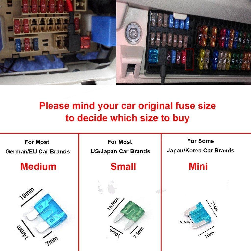 Cocar Auto Camion Fusibili Lamellari Piccolo Lama Dimensioni APS ATT LOW PROFILE ATM LP FUSETAP Add-A-Circuit Portafusibili 70 Pezzi Assortiti con 5A 7.5A 10A 15A 20A 25A 30A