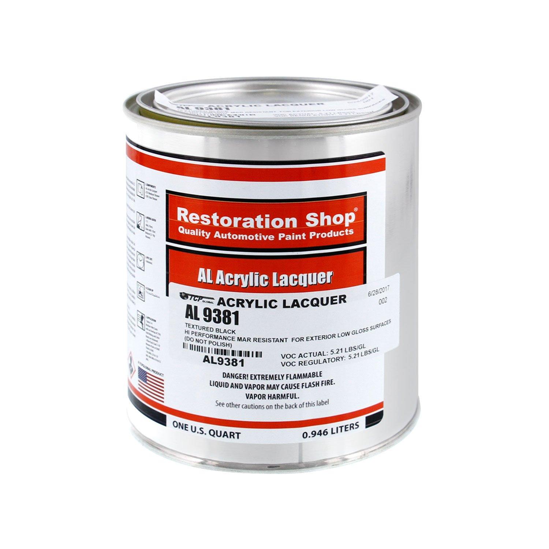 Restoration Shop - Quart ONLY Quart ONLY - Muscle CAR Blackout - Black Low Gloss Texture Finish Automotive Paint Mustang BOSS 302/MACH and Dodge