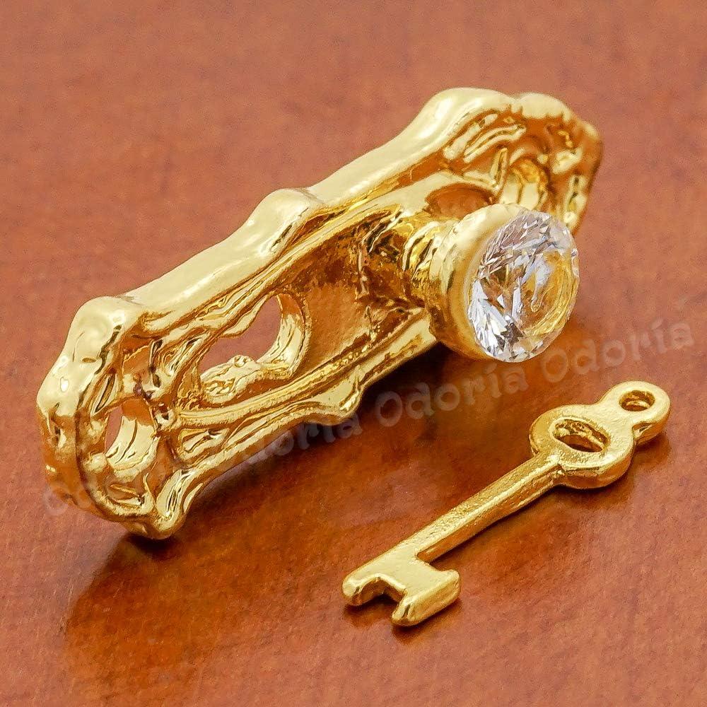 Odoria 1:12 Miniature Door Plate Knocker Lock Key and Hinge Screw Set