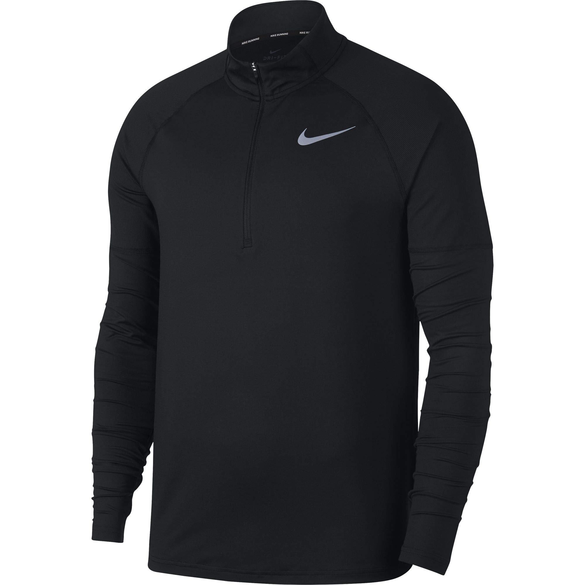 Nike Men's Element 1/2 Zip Running Top Black Size Medium by Nike (Image #1)
