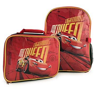 fc70c53a4e9e Disney Pixar Cars 3 Lightning McQueen Kids Backpack with Detachable  Insulated Lunch Kit  Amazon.ca  Toys   Games
