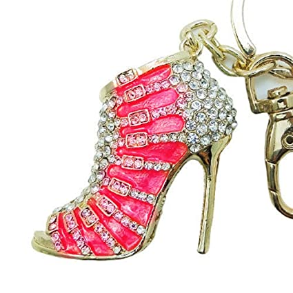 JewelBeauty Cute Lovely High Heeled Shoes Heels Rhinestone Crystal Keychain  Charm Pendent Beautiful Accessories Best Gift 6fd3b4085f42