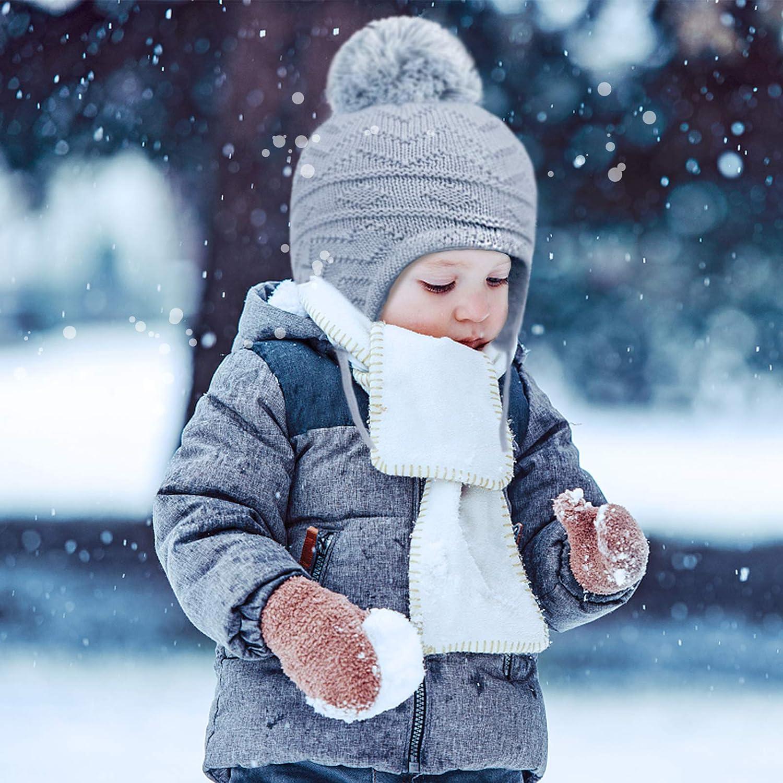 Tacobear Baby Winterm/ütze Kinder B/är Strickm/ütze Kindm/ütze Winter S/ü/ß Warme Beanie M/ütze Weiche baumwollen Babym/ütze Ohrenw/ärmer Winter Zubeh/öre f/ür 0-3 Jahr Kinder Jungen M/ädchen Grau