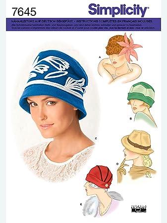 Simplicity Schnittmuster 7645.A Hüte: Amazon.de: Küche & Haushalt