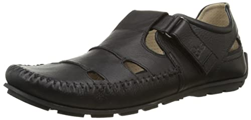 TBS Men's Scampy Loafer Flats Black 12 UK