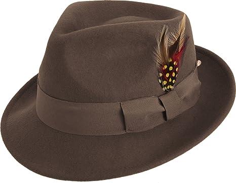 e7eb382885381 MONTIQUE Bogart Men s Felt Hat at Amazon Men s Clothing store  Fedoras