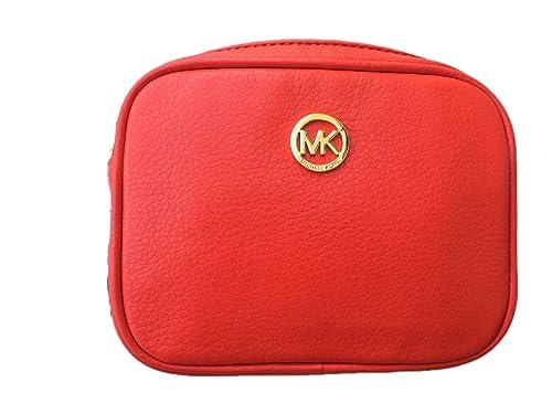 13bdd30b4e6ea1 Michael Kors Fulton Small Cross-body Bag in Mandarin Orange Leather:  Handbags: Amazon.com