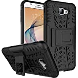 DMG Galaxy On7 Prime Kick Stand Cover, Protective Heavy Duty Dual Layer Back Cover Case for Samsung Galaxy On7 Prime (Black)