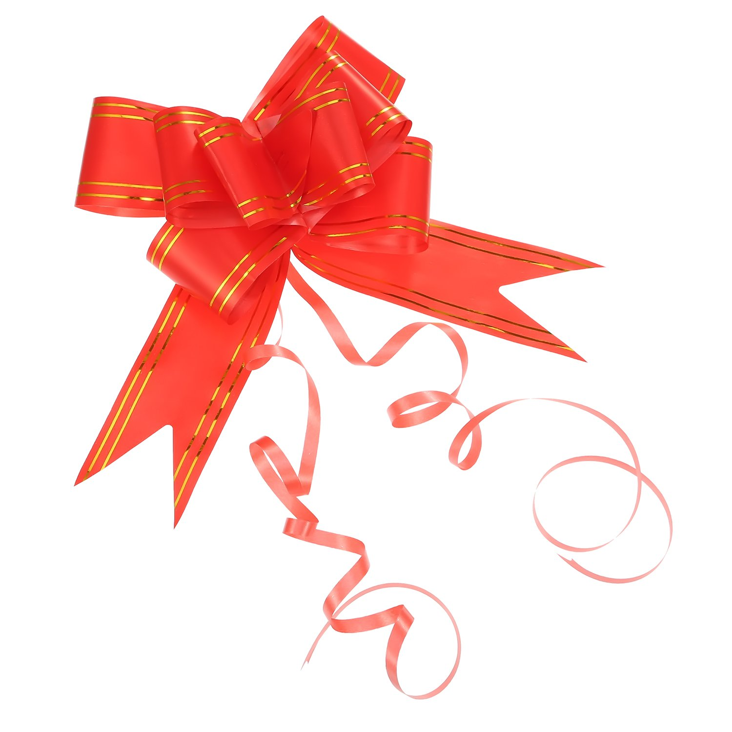 20 Pack Pull Bows for Wedding Party Gift Wrap, 45 mm (Red) Pangda