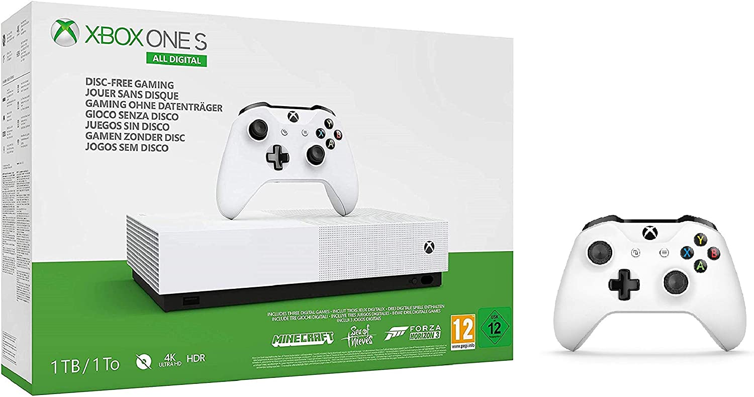 Xbox One Digital Console + Official Xbox Wireless Controller ...