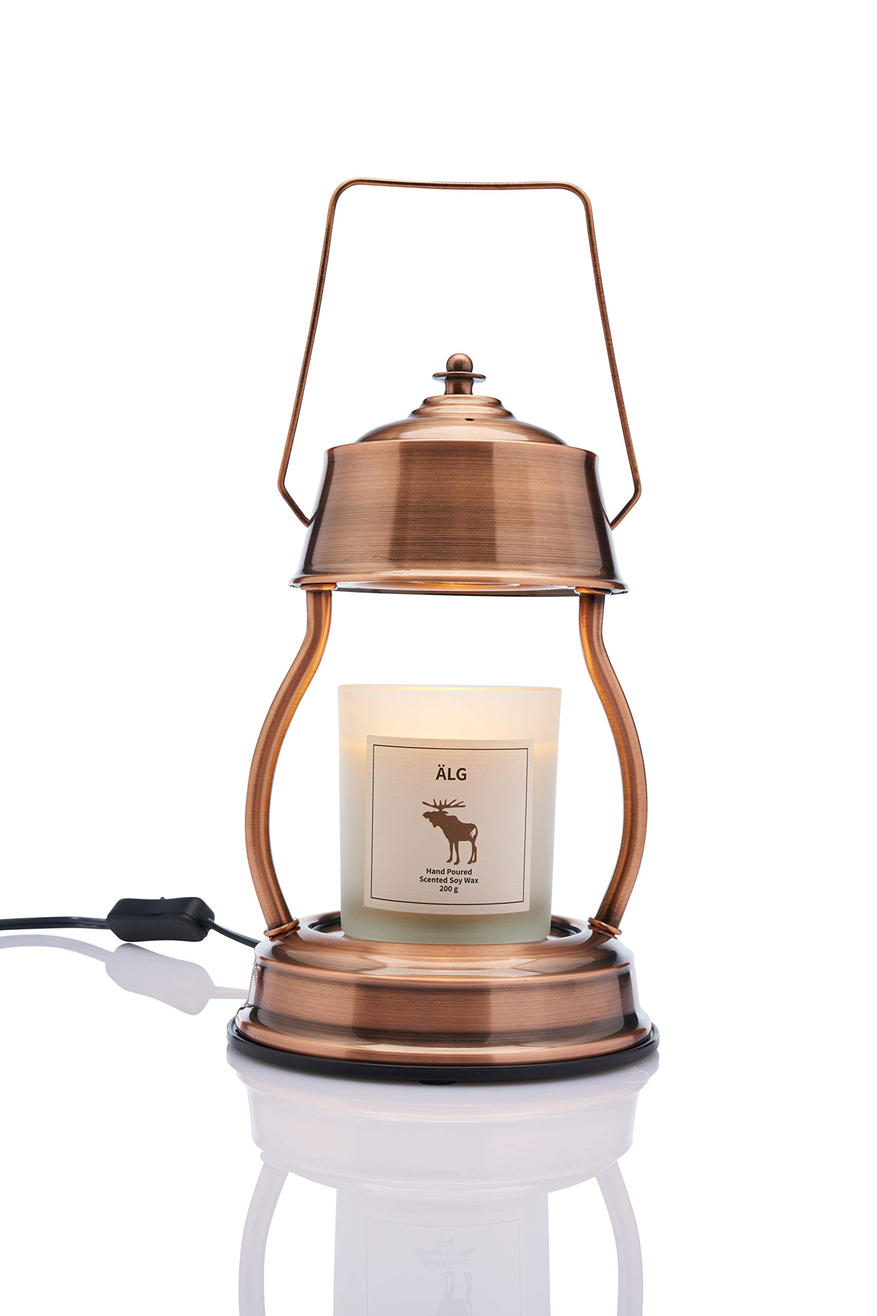 Vana Candles Candle Warmer Ljusvärmare Lykta Vintage Lamp Lantern Swedish Design - Brushed Metal Rose Gold