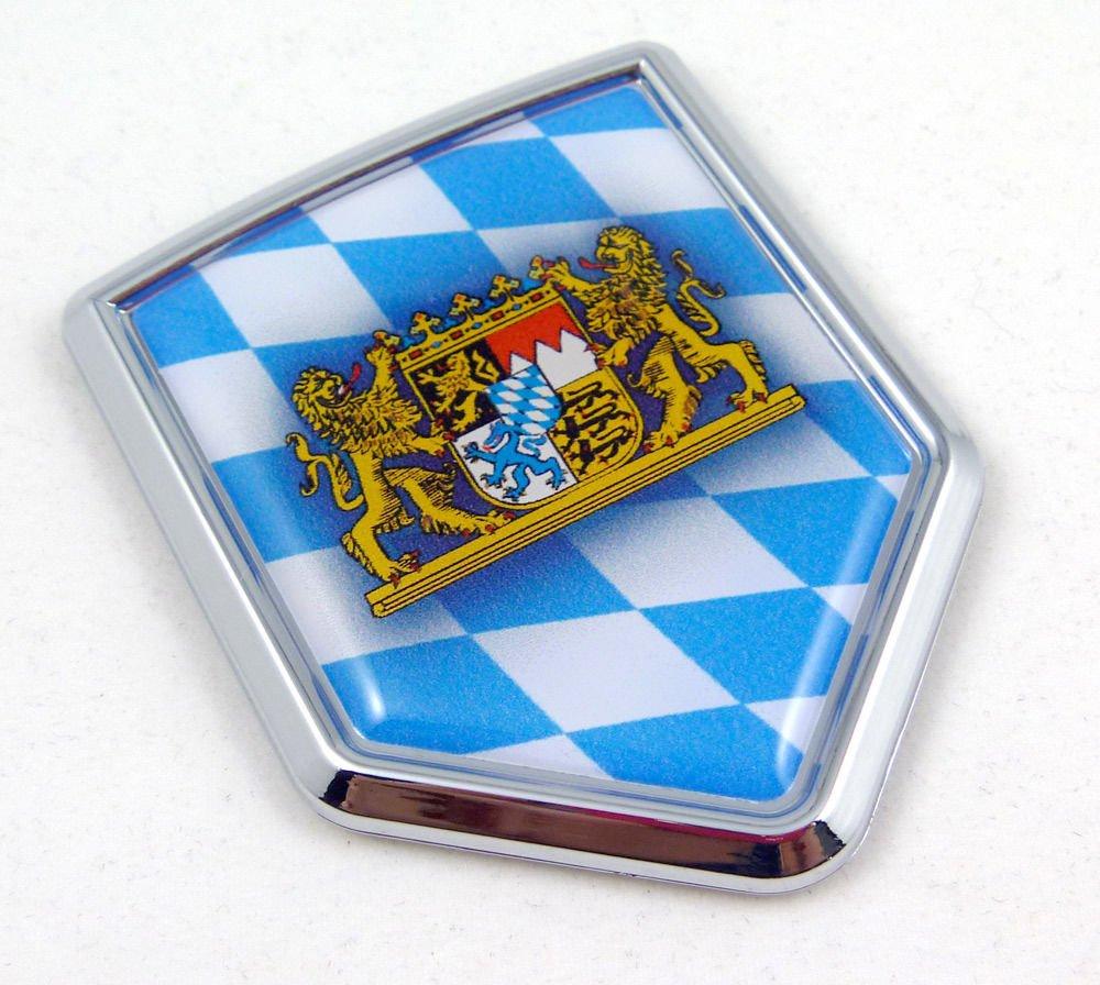 Bavaria Bavarian Flag Car Chrome Emblem Sticker Bayern land of beer