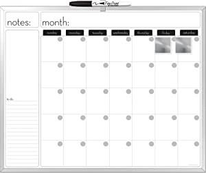 The Board Dudes 16X20-Inches Aluminum Framed Magnetic Dry-Erase Calendar with a Marker and Two Magnets (CYG21)