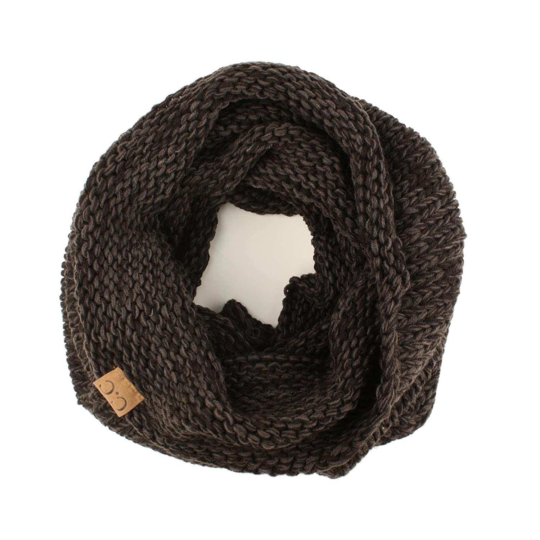 Winter Chunky Long Pullover Knit Single Loop Tube Infinity Hood Cowl ...