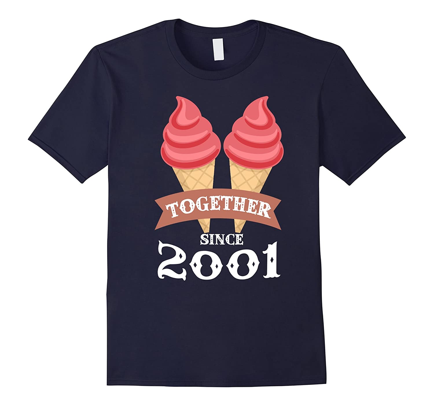 Ice Cream Together Since 2001 Shirt- Summer Style 2016-BN
