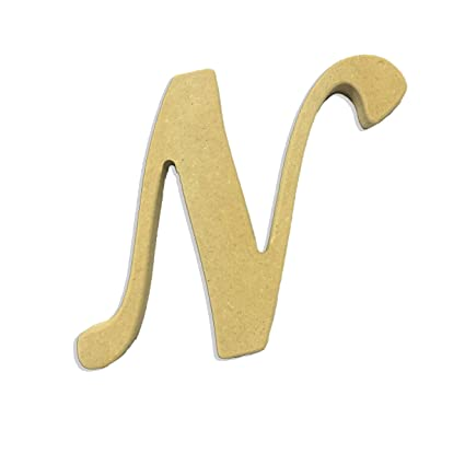 amazon com 6 capital letter n script cursive unfinished wood diy