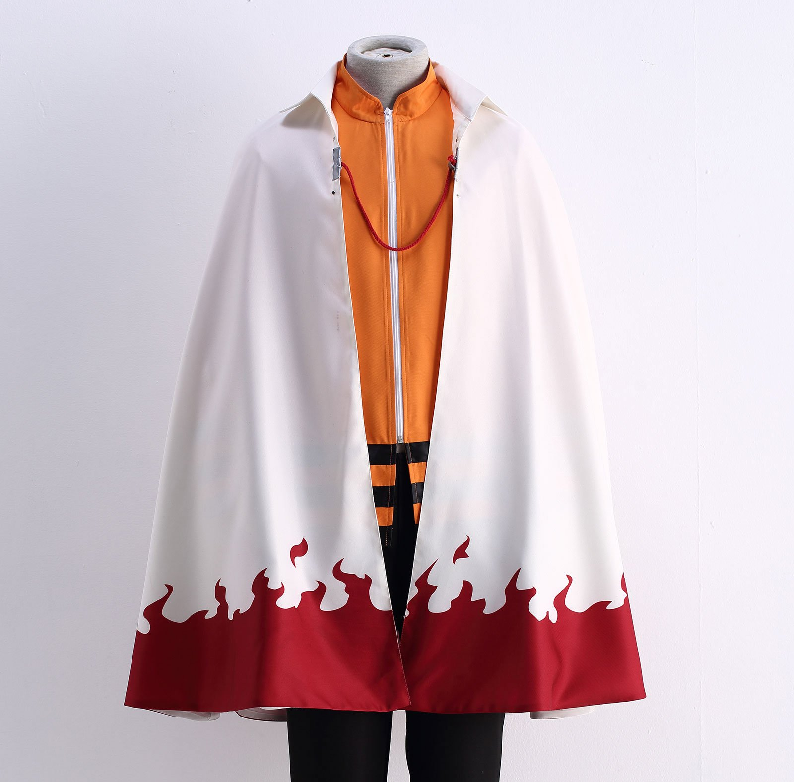 OURCOSPLAY US Size Men's Uzumaki Cloak 7th Hokage Cloak Boruto Cosplay Costume (Men US XL) by OURCOSPLAY (Image #4)