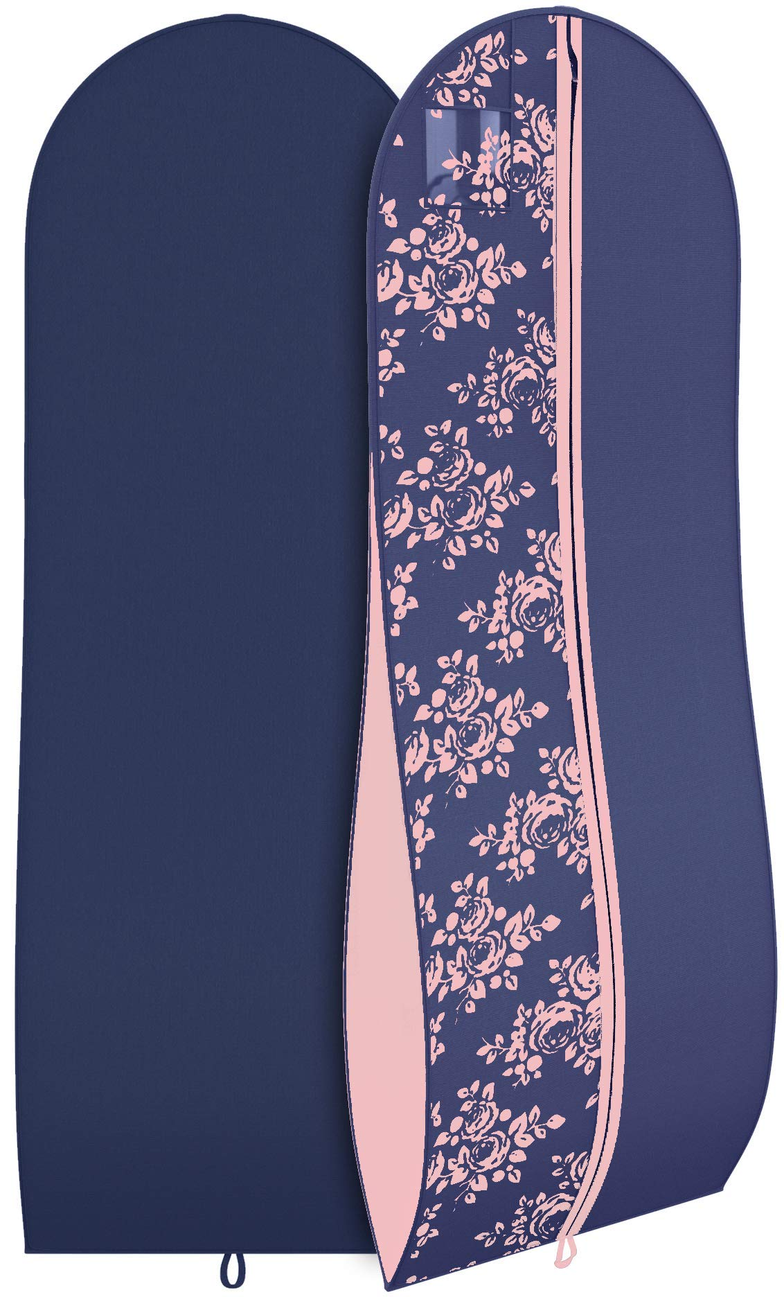 Women's Formal Gown Garment Bag -Long Wedding Prom Dresses - 72''x24'', 10'' Gusset