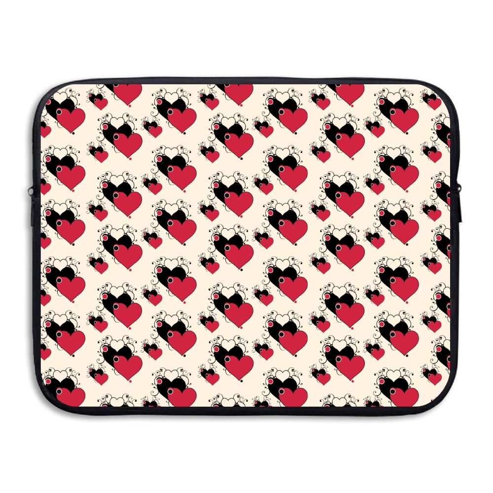 Jingclor Business Briefcase Sleeve Love Heart Seamless Art Laptop Sleeve Case Note PC Cover Handbag