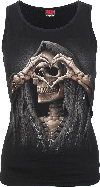 Spiral Direct Damen Dark Love-Razor Back Black Top