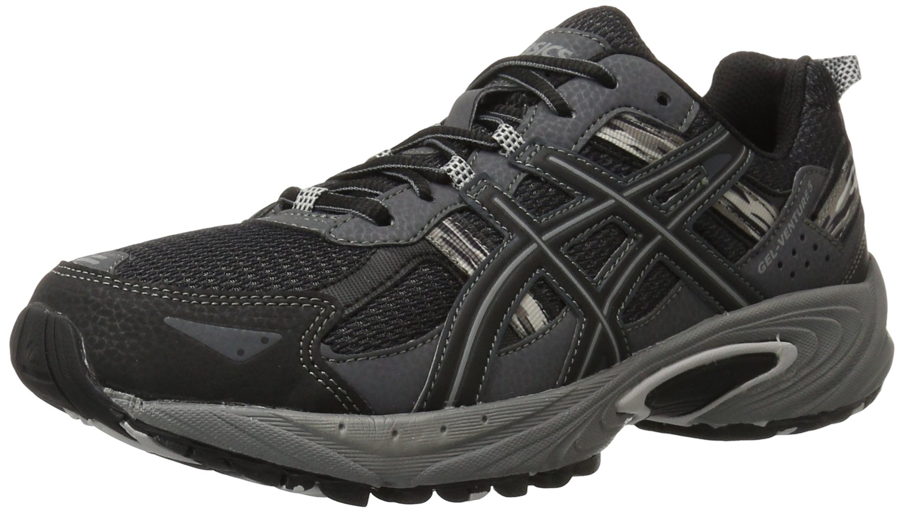 ASICS Men's Gel Venture 5 Running Shoe, Black/Onyx/Charcoal, 9 4E